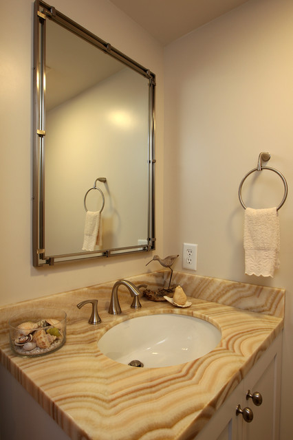 El Segundo Powder Room Remodel Traditional Powder Room Other Metro By Custom Design