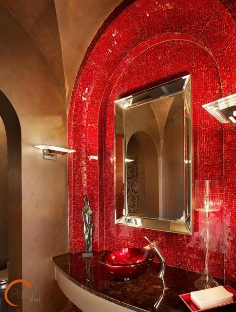 Elegant Chic Powder Bath modern-powder-room