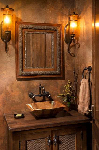 Elegant English Country Home Traditional Powder Room Minneapolis on fun restaurant interiors
