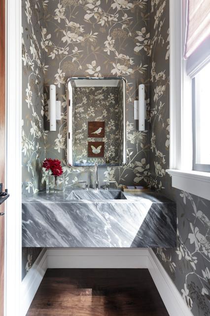 Elegant Modern Transitional Powder Room San