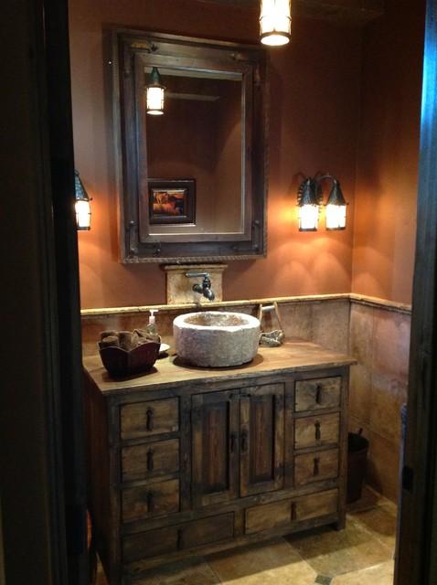 Elite Luxury Homes Rustic Powder Room Phoenix By