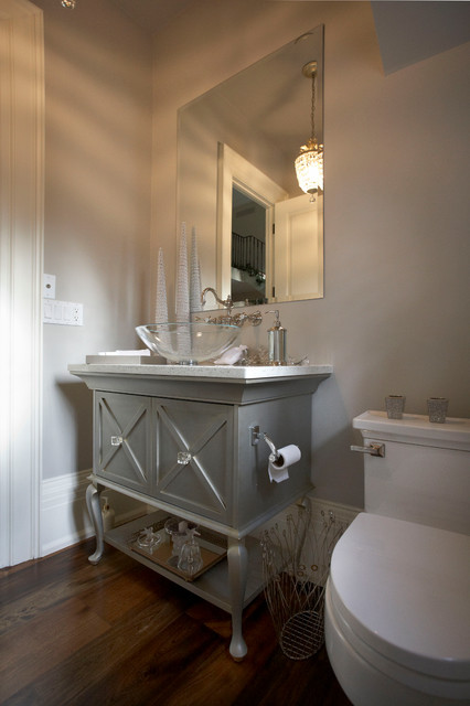 English Manor Traditional Powder Room Toronto By Parkyn Design