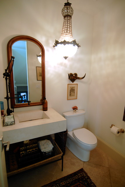 Traditional Powder Room by Brenda Olde