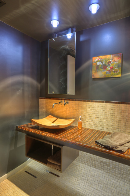 Fairview St. Residence contemporary-powder-room