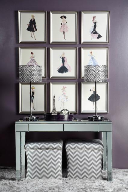 Fashion Your Walls contemporary-powder-room