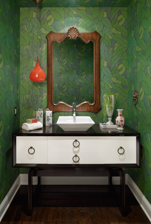 Fashionably Bold Powder Room Design