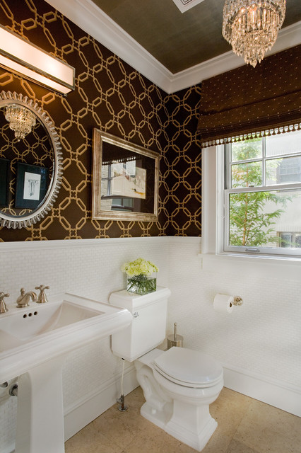 Federal Heights Home traditional-powder-room