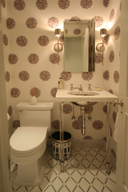 Fifth Ave Apartment contemporary-powder-room