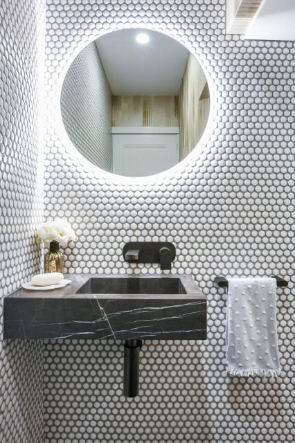 Pretty Looks With Penny Tiles, Penny Tile Bathroom Ideas