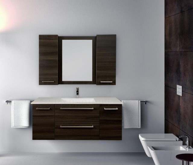 Floating Vanities In London Ontario Modern Powder Room