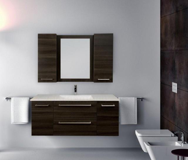 Example Of A Minimalist Powder Room Design In Toronto