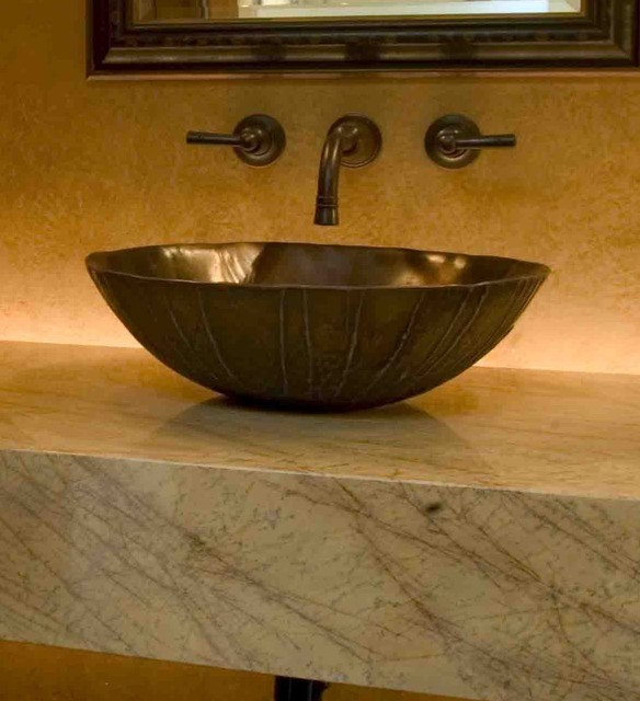 Floating Vanity Contemporary Powder Room Denver By