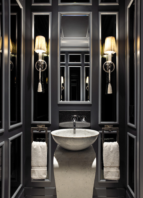 Glamorous powder rooms - Luxury bathroom designs with stunning interior ...