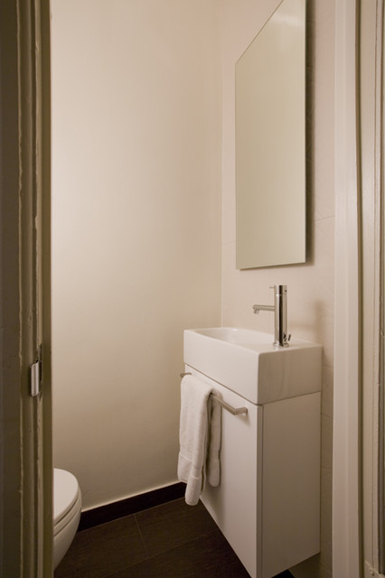 Forma design modern powder room dc metro by forma for Bathroom design under stairs