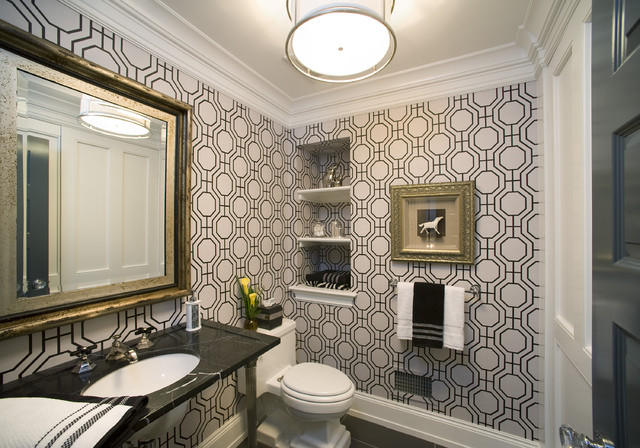 formal powder room modern powder room philadelphia