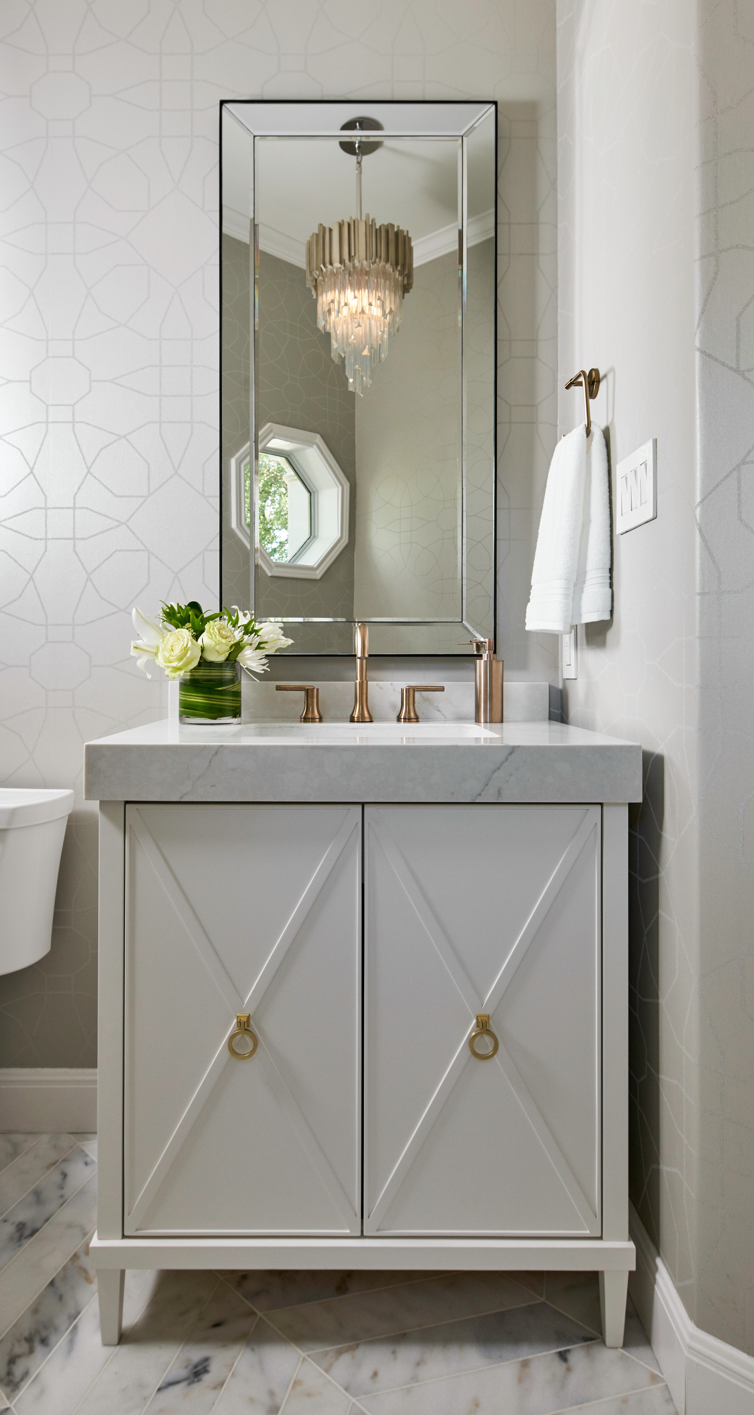 75 Beautiful Gray Powder Room Pictures Ideas February 2021 Houzz
