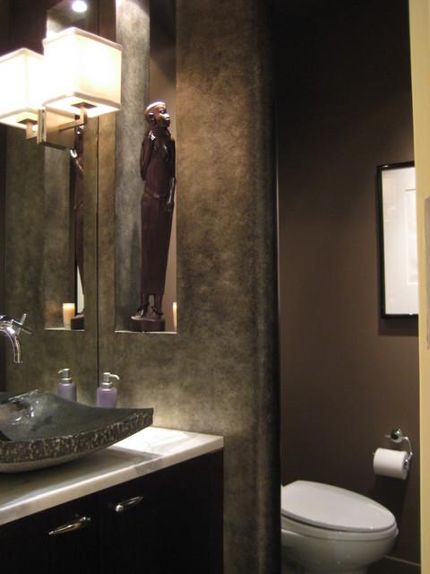 Four Seasons Residence contemporary-powder-room