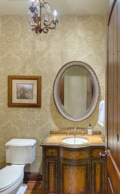 French Chateau Style In Traditions Traditional Powder Room Houston By Ellis