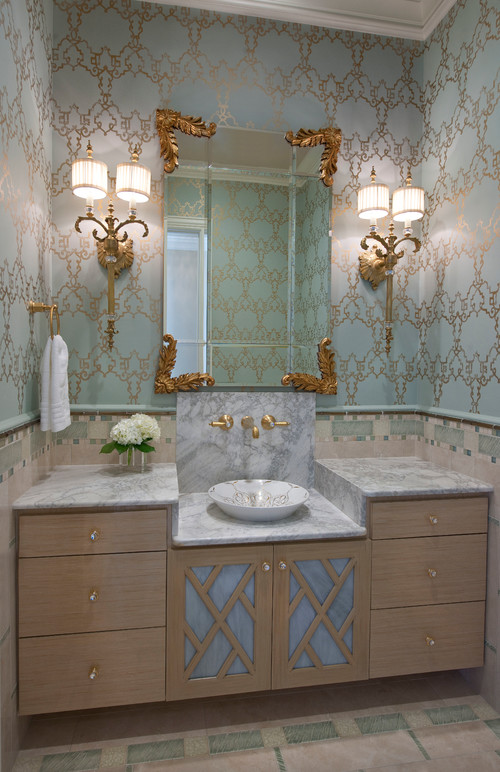 Cost Of Wallpaper These Days? Wanting To Put In French Powder Room ++