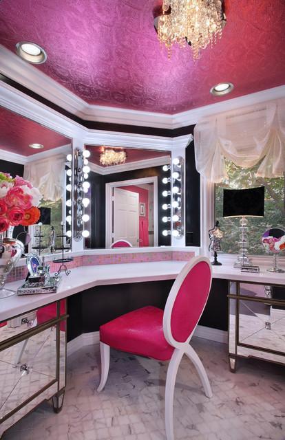 Glam Dance Studio Contemporary Powder Room Los