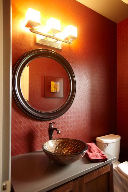Glamorous traditional-powder-room
