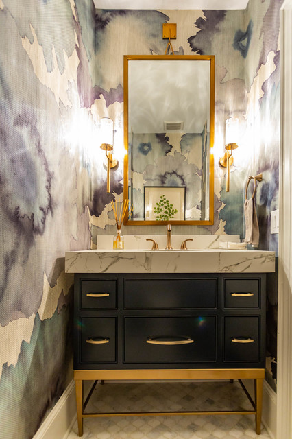 Gorgeous Powder Room Fusion Charlotte By Impact Design Resources Houzz