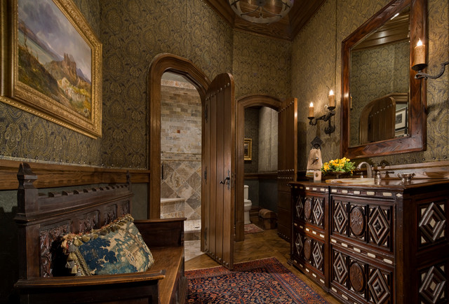 Gothic Castle In The Blue Ridge Mountains Traditional Powder Room