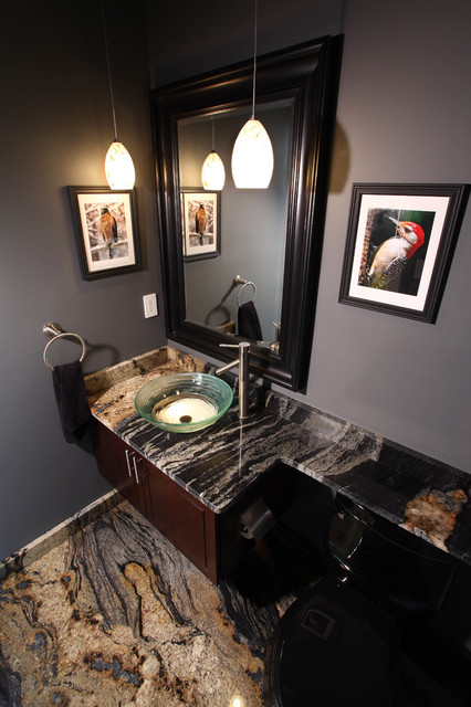 Granite Powder Room Contemporary Powder Room Dc