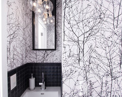 Graphic Half Bath modern powder room