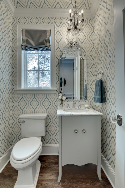 Powder Room Wallpaper That Makes A Grand Statement Photos