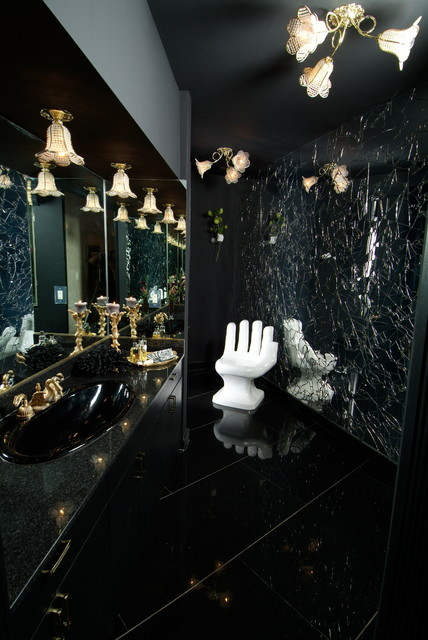 Green Acres Beverly Hills modern-powder-room