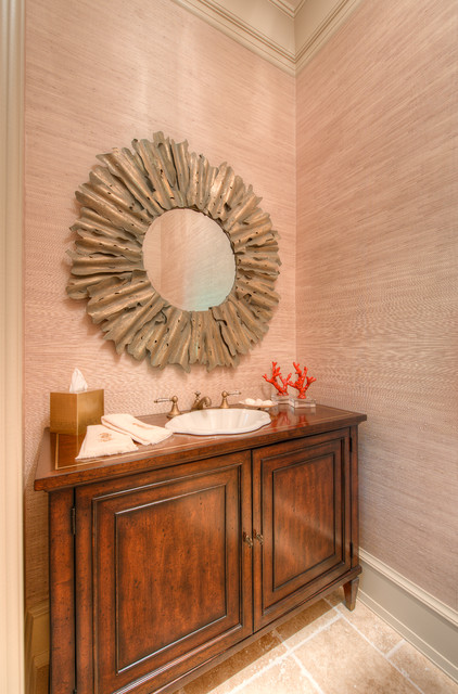 Green Meadow traditional-powder-room