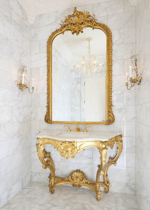 Greenbrier Formal Powder traditional powder room