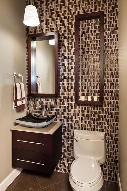 Guest bathroom - Traditional - Powder Room - Portland - by KuDa ...