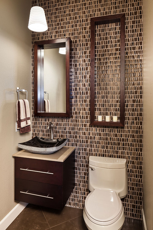 contemporary powder room 12 Small But Beautiful Bathrooms