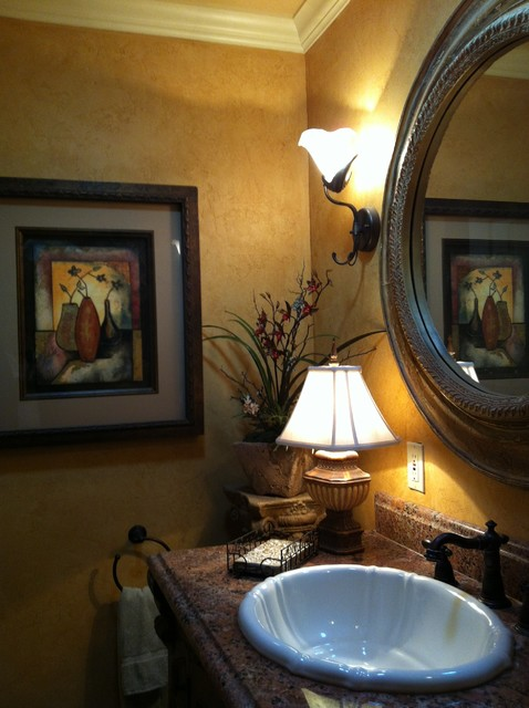 Guest bathroom traditional powder room oklahoma city for Interior designs by rhonda