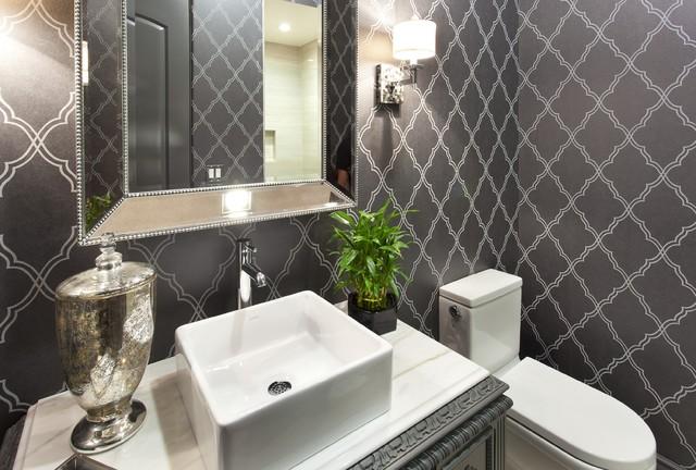 Guest Bathroom Mediterranean Powder Room