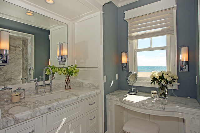 This Is An Example Of A Well designed Traditional Powder Room In