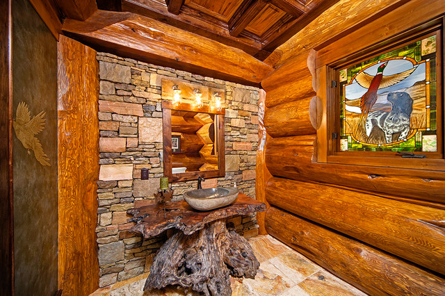 harry scott montagne salle de bain par pioneer log homes of british columbia ltd. Black Bedroom Furniture Sets. Home Design Ideas