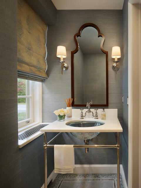 bathroom wallpaper paste