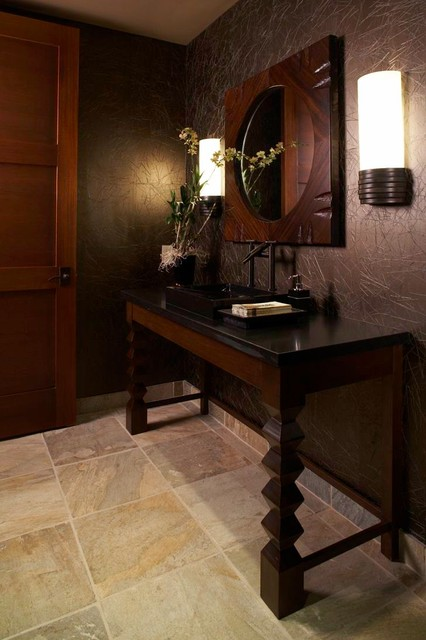 Hawaiian Retreat - Powder room tropical-powder-room