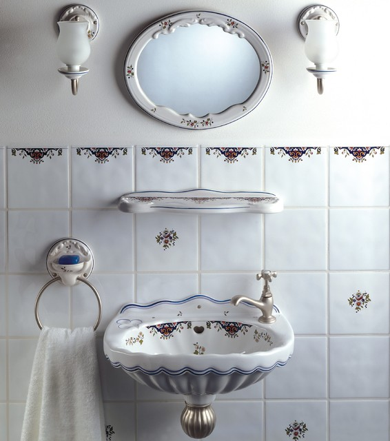 Modern French Bathroom: Herbeau French Country Handpainted Valse Sink