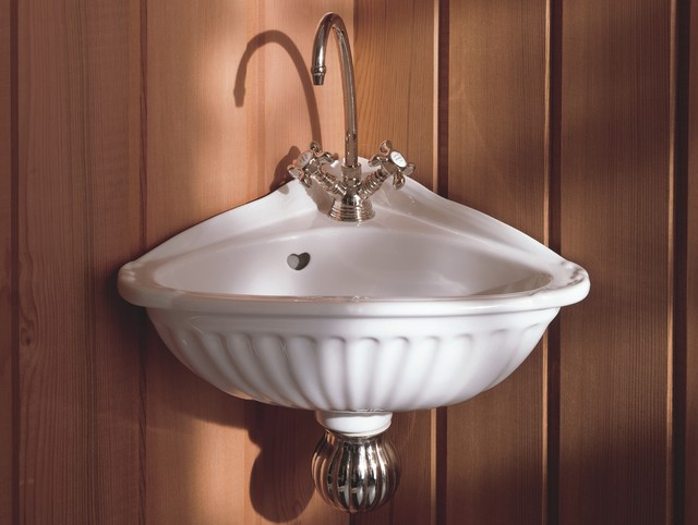 Herbeau Carline Corner Sink traditional-bathroom-sinks