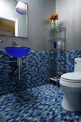 Hermogeno Designs modern-powder-room