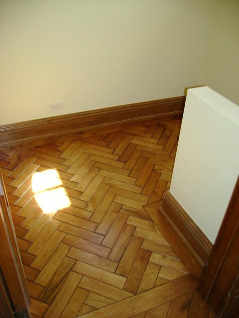 Herringbone flooring pattern with border southwestern for Southwestern flooring
