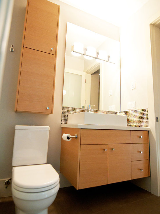 Over Toilet Storage Powder Room Design Ideas, Pictures, Remodel and Decor