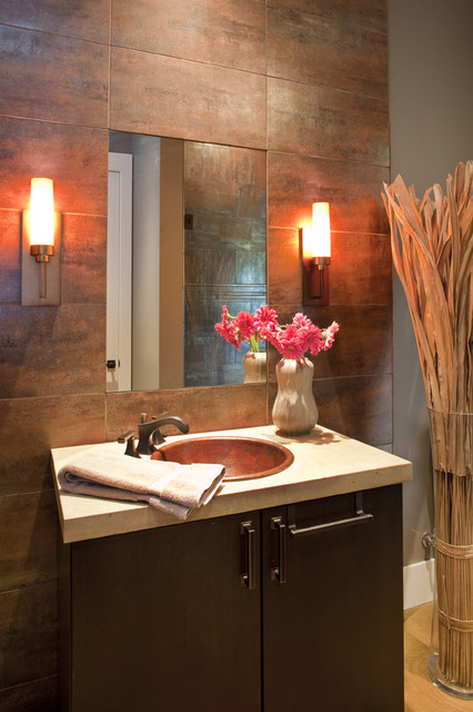 Hill Country Eclectic eclectic-powder-room
