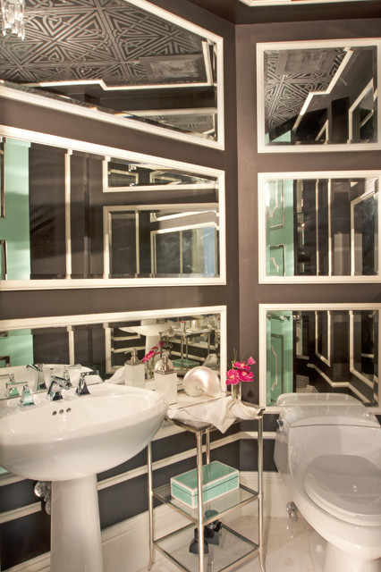 Hollywood Regency- Turnberry Ocean Colony Sunny Isles, Fl eclectic powder room