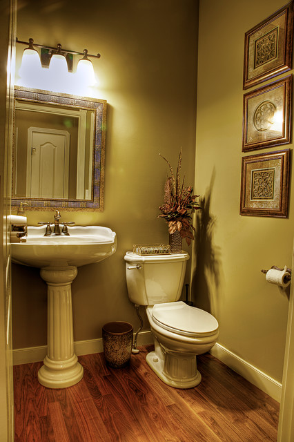 Powder Room Makeover home revovation/makeover - traditional - powder room - calgary