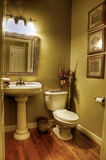 Home Revovation Makeover Traditional Powder Room